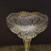 SALE Imperial White Carnival Small Stemmed Compote