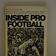 SALE Inside Pro Football 1970 Paperback Book by Hal Higdon