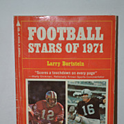 SALE Football Stars of 1971 Paperback by Larry Bortstein