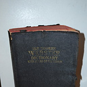 1939 Modern Webster Dictionary with Atlas of the World Paperback
