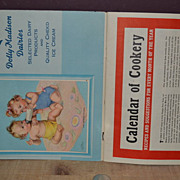 1949 Dolly Madison Dairies Calendar of Cookery Complete