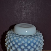 Fenton's French Opalescent Hobnail Small Ginger Jar.