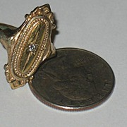 "Marked Avon ""Kensington"" Ring with Clear Rhinestones"
