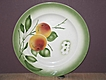 Libertas Prussia Plate with Hand Stenciled Orange