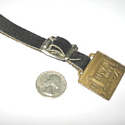 Railroad Box Car with Horse Watch Fob and Leather Strap