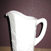 Westmorland Paneled Grape 32 oz. Milk Glass Pitcher