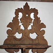SOLD Collapsible Carved Wooden Decorative Wall Shelf