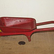 Red Pressed Steel Toy Wheelbarrow