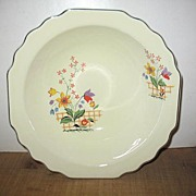 W.S. George lido Gaylea, canarytone Serving Bowl