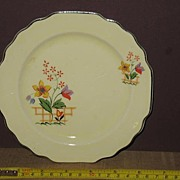 W.S. George Lido, Gaylea, Canarytone Bread and Butter Plate