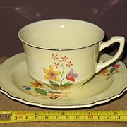 W.S. George Lido, Gaylea, Canarytone Cup and Saucer Set.