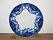 Ford and Sons 'Argyle' Flow Blue Lunch Plate