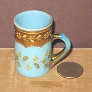 Mold Blown Miniature Hand Enameled Chocolate Cup