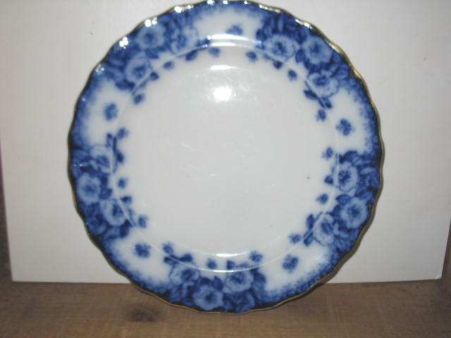 Furnival's English Rose Flow Blue Dinner Plate