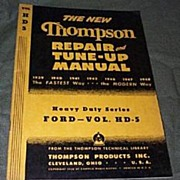 Thompson 1948 Ford Repair and Tuneup Manual