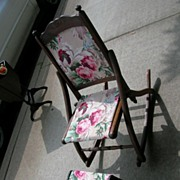 Folding Sewing Rocker and Stool