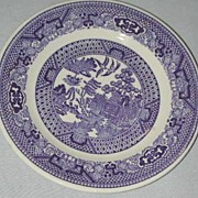 Unmarked Blue Willow Bread and Butter Plate