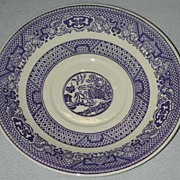 Pair Unmarked Blue Willow Saucers