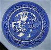 English Staffordshire Blue Willow Plate