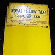 Royal Yellow Taxi Clip Board, Winona, Minn