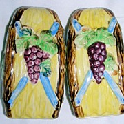 Japan Majolica Large S & P shakers w/Grapes