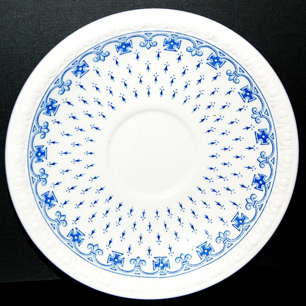 Spode's Blue and White Ermine Saucer