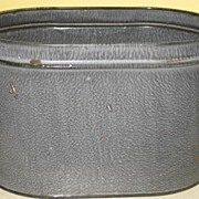 Grey Granite Ware Oval Lunch Bucket