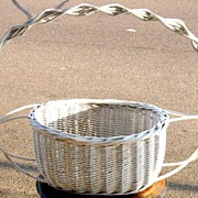 Huge Wicker Flower Basket