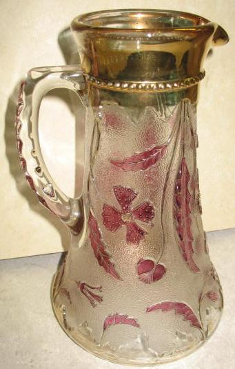 Delaware Pattern Glass Ice Tea Pitcher