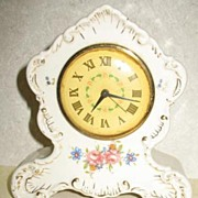 Lux Mfg. Wind-Up Clock w/Ceramic Body