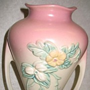 "Hull W12 9 1/2"" Wildflower Vase Pink to Teal"
