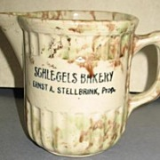 Wonderful Yellow-ware Advertising Pitcher,, West Bend, Wi