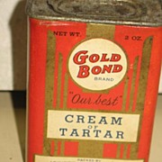 Gold Bond Cream of Tarter Box