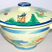 Quimper covered Porridge Bowl