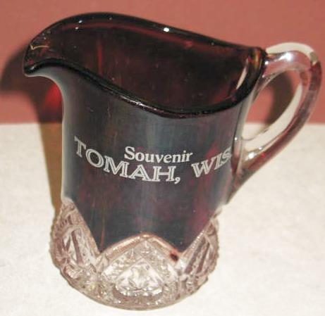 Ruby Flash Tomah Wis. Souvinir Cream Pitcher
