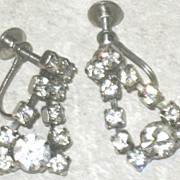 Prong Set Screw-back Rhinestone Earrings