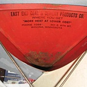 Long handled, Swinging, Dust Pan with Advertising
