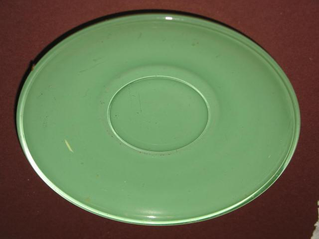 Mint Green Anchor Hocking Rainbow Saucer