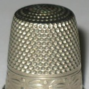 S B C Silver  Colored Thimble