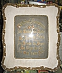 German Reverse on Glass Framed Verse Picture