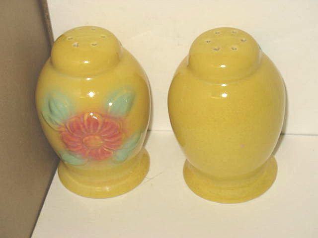 Hull Sun-glow Salt and Pepper Shakers