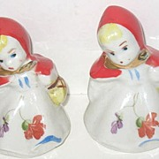 Hull's Regal Red Riding Hood Salt and Pepper Set