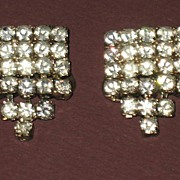 Pair Prong-set Rhinestone Shoe or Dress Clips