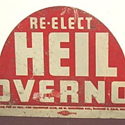 License Plate Attachment Re-elect Heil Governor