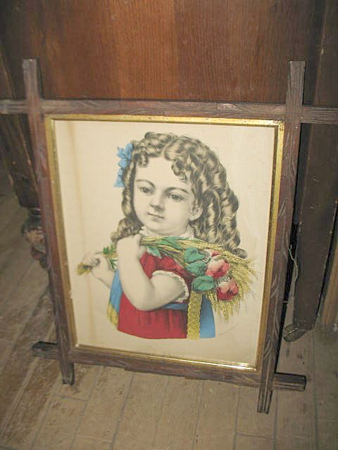 Currier and Ives Hand Colored Litho Framed 'Little Daisy'