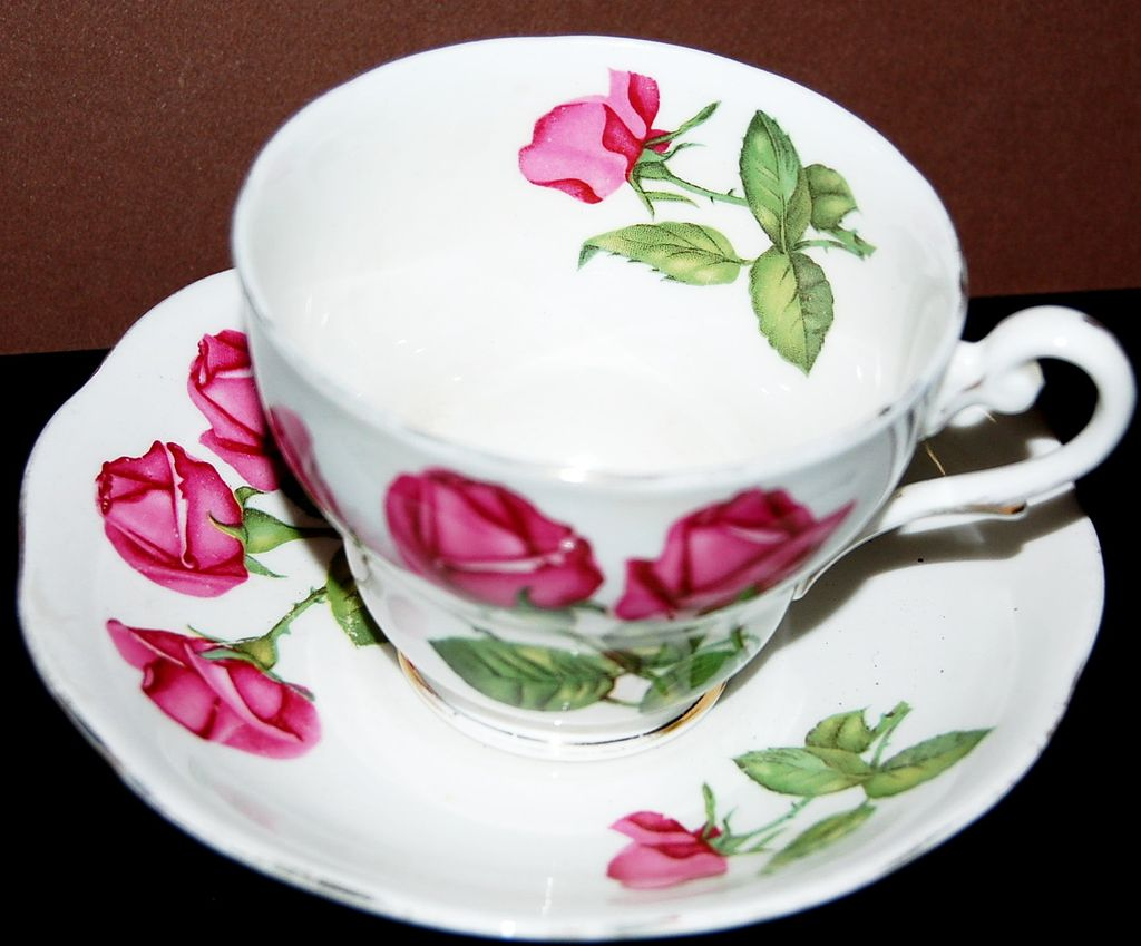 English Royal Standard Three Roses Cup and Saucer