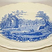 English Transferware Platter by Taylor Smith and Taylor