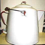 Graniteware Enamel Coffee Pot