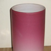 Raspberry Crush Peach Blow Cased Glass Tumbler.
