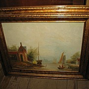 SALE PENDING T. Weddel Framed Oil on Canvas